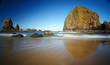 Cannon beach and  haystack rock