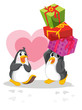 Penguins with gifts