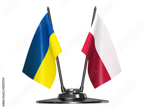 Flag of Ukraine and Poland