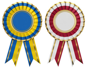 Ribbon Award with the flags of Poland and Ukraine