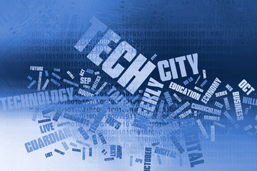 Word cloud technology, Background concept