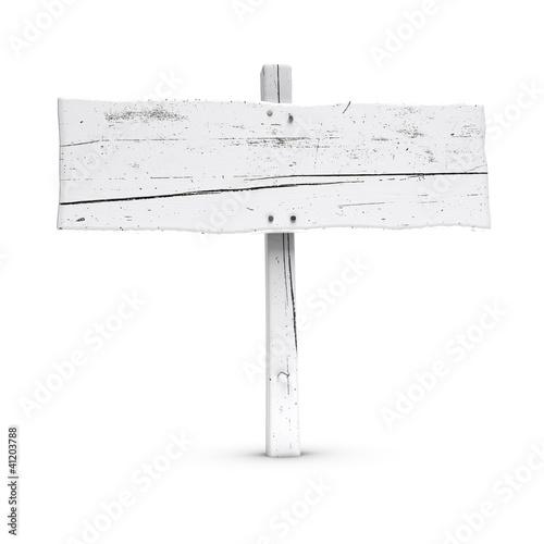 panneau indicateur en bois peint en blanc de olivier le moal photo libre de droits 41203788. Black Bedroom Furniture Sets. Home Design Ideas