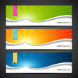 Banner design colorful sunlight background, vector