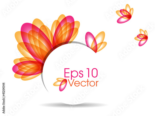 Abstract colorful  background with beautiful petals for text pro