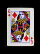 Old playing card (queen)