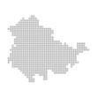 Pixelkarte - Bundesland Thüringen