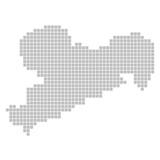 Pixelkarte - Bundesland Sachsen
