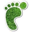 Sticker grüner Fußabdruck