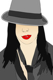 Portrait of woman with hat male