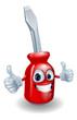 Screwdriver mascot character