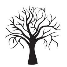 Czarny drzewo bez liści
