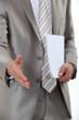 Businessman hand shake