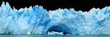 Icebergs isolated on black