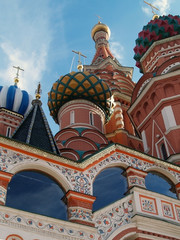 st.basil cathedral, red square in moscow, russia