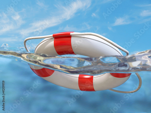 Lifebelt in the water