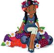 bimba seduta frutti di bosco-berry's child