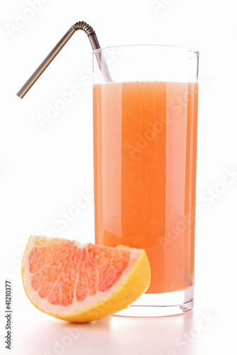 glass of grapefruit  juice - 41210377