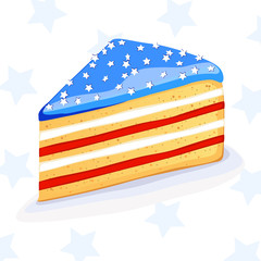 Vector cake in american style