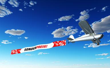 Flugzeug Banner - Sonderpreis!