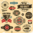 Retro style labels and badges vintage collection
