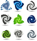 3d icons, ideal for science, technology or business concepts