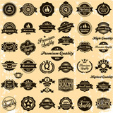 Premium Quality and High Quality Labels retro vintage