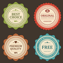 Vintage labels set vector design elements