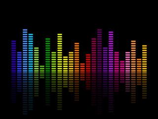 Vector illustration of a music equalizer