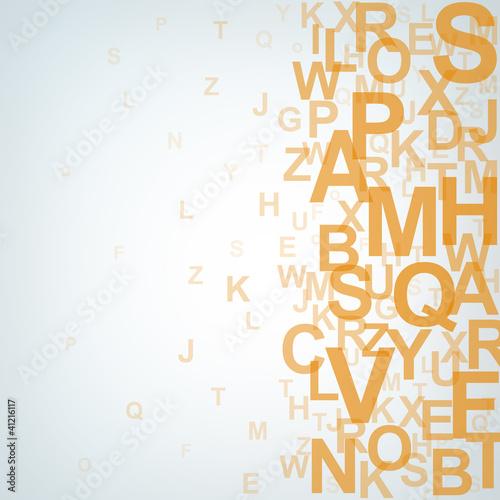 Orange letter concept