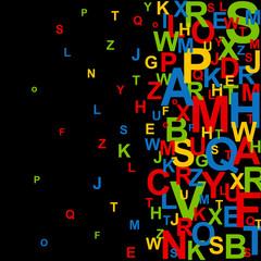 Coloured letter jumble