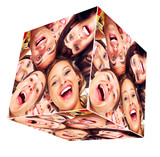 Fototapety People smile cube collage.