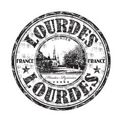 Lourdes grunge rubber stamp