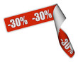 Band Sticker rot rore -30 PROZENT