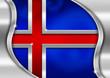 Iceland Metal Flag