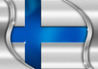 Finland Metal Flag