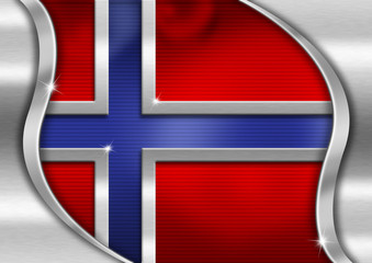 Norway Metal Flag