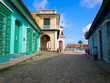 Colorful l houses in the old town of Trinidad in Cuba
