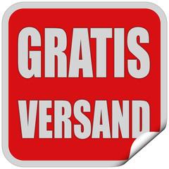 Sticker rot quadrat cu GRATIS VERSAND