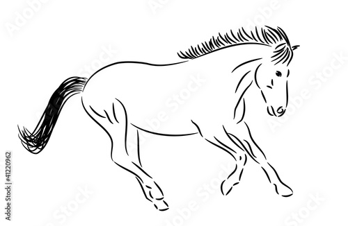 Horse Pictures Black And White Drawing Running Horse Drawing Black