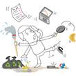 Figur, MultitaskingUNfähig, Haushalt, Arbeit...