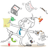 Geschäftsmann, MultitaskingUNfähig