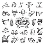 Fototapety agriculture and farming icons