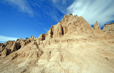 High Clouds over the Badlands