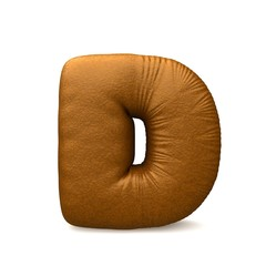 brown leather letter d