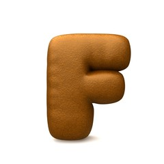 brown leather letter f