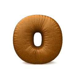 brown leather letter o