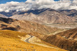 Twisty mountain road in Himalayas Tibet China