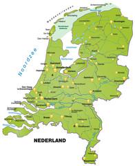 Übersichtskarte der Niederlande