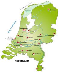 Inselkarte der Niederlande als Internetkarte