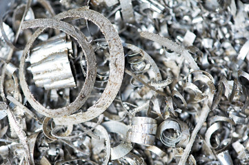 steel metal scrap materials recycling backround